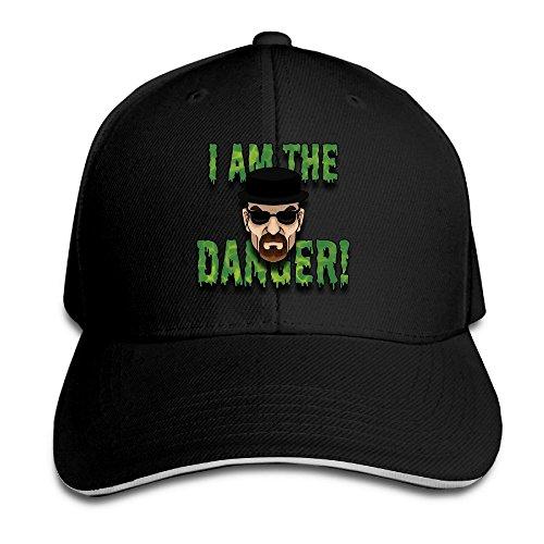 [XSSYZ Walter White Say I Am The Danger Sandwich Baseball Cap Black] (Skyler And Walter White Costume)