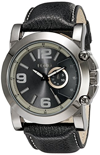 Folio Men's FMDMSG043 Analog Display Quartz Black Watch - Folio Watch