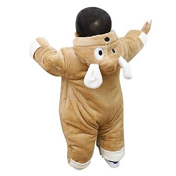 a04790e35 Amazon.com  Franterd Baby Boys Girls Romper Winter Warm Thick Fluffy ...