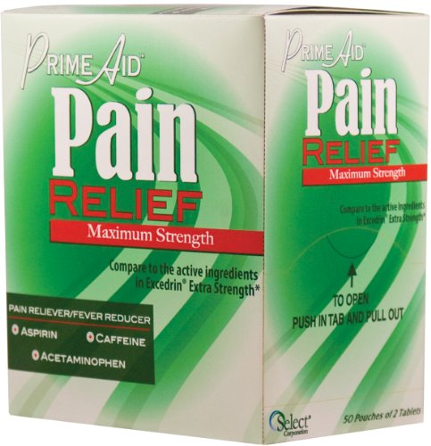 Generic, Compare to the Active Ingredients in Excedrin Extra Strength Pain Relief, 50x2 Tablets by Prime Aid