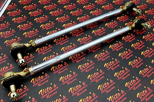 - 2 X New Vito's Yamaha Banshee Silver Tie Rods/Ball Joints Stock Length Kit R And L