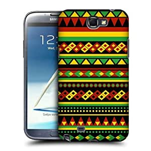 AIYAYA Samsung Case Designs Aztec Rasta Colour Patterns Protective Snap-on Hard Back Case Cover for Samsung Galaxy Note 2 II N7100