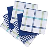 T-fal 100% Cotton 8 Piece Flat Waffle Kitchen Dish Cloth Set, Cool