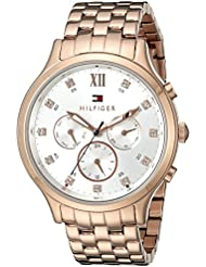 Tommy Hilfiger Womens 1781611 Sophisticated Sport Analog Display Quartz Rose Gold Watch