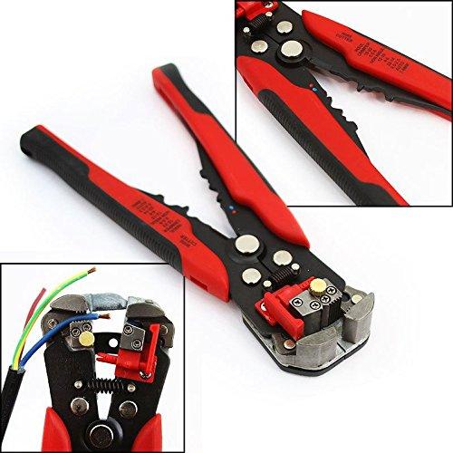 8'' Self Adjusting Wire Stripper Cutting Pliers Electrician Copper Aluminum Tool