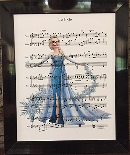 Ready Prints Let It Go Music Sheet from Frozen Movie Artwork Print Picture Poster Home Office Bedroom Nursery Kitchen Wall Decor - unframed