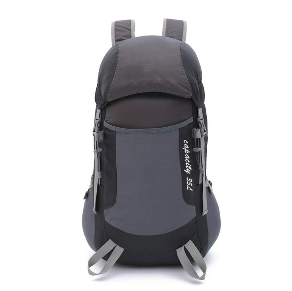 折りたたみ式 超軽量 旅行用 バックパック アウトドア リュックサック 登山 ナップサック 軽量 ポータブル 男女兼用  ブラック B07KTZP8P1