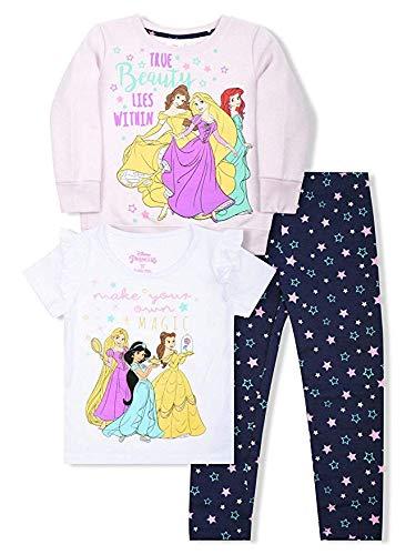 Disney Princess 3 PC Sweatshirt T-Shirt Legging Set Girl SizeMulti 6X