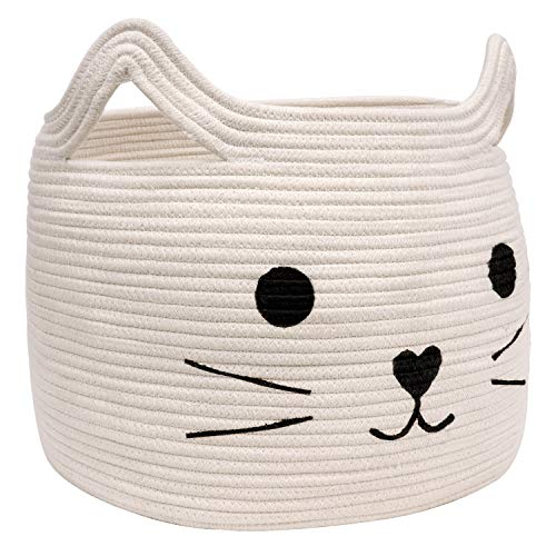HiChen Large Woven Cotton Rope Storage Basket