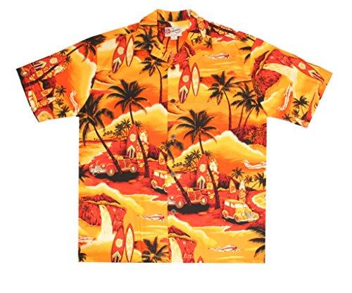 Hilo Hattie Waikiki Woody Yellow Aloha Shirt Size - Waikiki Clothing Stores