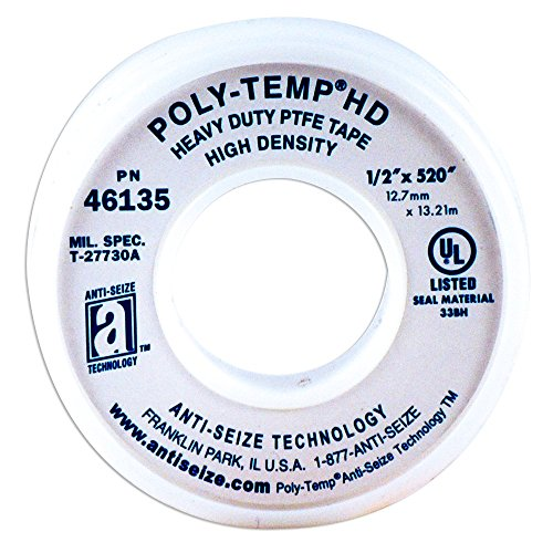 ANTI-SEIZE TECHNOLOGY 46135 White PTFE Poly-Temp Heavy Duty Tape, 520