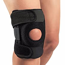 CFR Knee Support Brace Open Patella Stabilizer with Adjustable Strapping Extra Thick Neoprene Sleeve for Arthritis, ACL, Running, Basketball, Meniscus Tear, Sports UPS Post