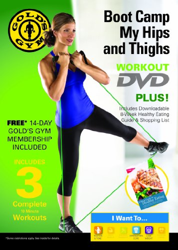 gold 39 s gym boot camp my hips and thighs workout dvd exercise videos roman fitness systems. Black Bedroom Furniture Sets. Home Design Ideas