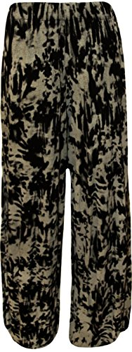 Led Tie 54 Size Large parallles Femmes palazzo pantalons pantalon Dye imprims Plus 36 vase xPApw7nwI