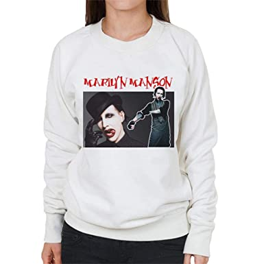 Coto7 Marilyn Manson Tribute Montage Womens Sweatshirt: Amazon.es: Ropa y accesorios