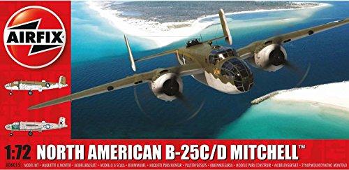 Airfix A06015 North American B-25C B-25D Mitchell 1:72 Scale Plastic Model Kit