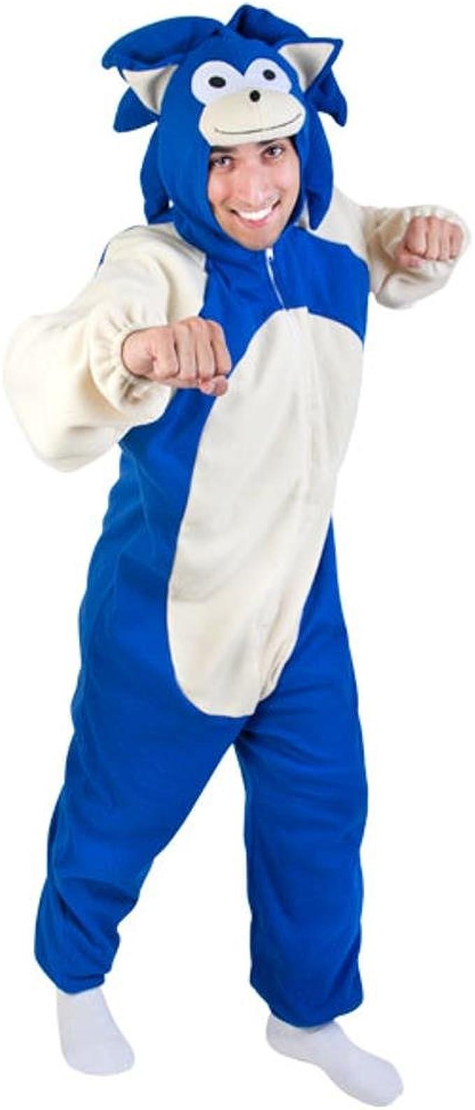 Amazon Com Adult Blue Hedgehog Costume Size Standard 44 Clothing