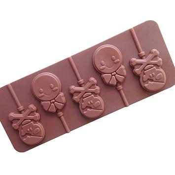 Ndier Producto casero 25,8 * 10 * 1 cm 5 Mismo Pan Taro de Chocolate de Silicona Molde de Pastel Pastel de Chocolate 1 PC: Amazon.es: Hogar