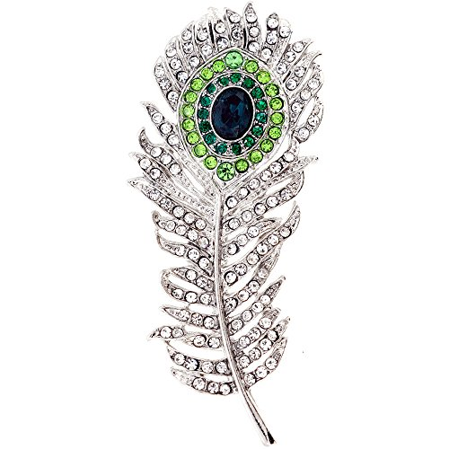 Fantasyard Multicolor Crystal Peacock Pin Brooch Pendant