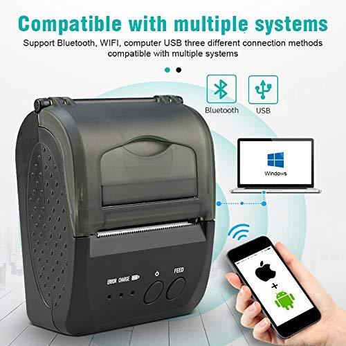 ZTT Impresora térmica inalámbrica de Recibos Bluetooth, Impresora ...