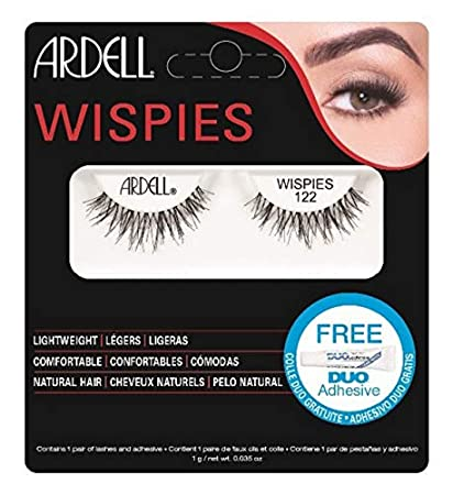 f86ded50088 Amazon.com : Ardell Wispies Eye Lashes, No. 122 Black : Fake Eyelashes And  Adhesives : Beauty