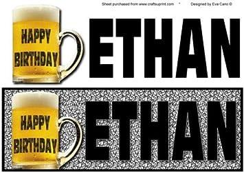Joyeux Anniversaire Ethan Grande Dl Noir Par Eva Cano Amazon Fr