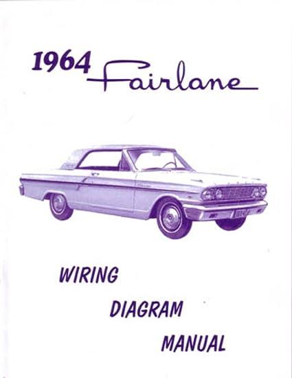 amazon com: bishko automotive literature 1964 ford fairlane electrical  wiring diagrams schematics mechanic book oem: automotive