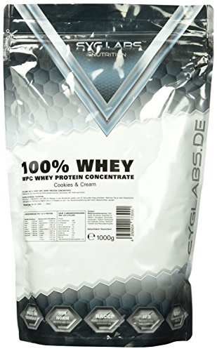 Syglabs Nutrition 100 Prozent Whey Protein Concentrate, Cookies, 1er Pack (1 x 1 kg)