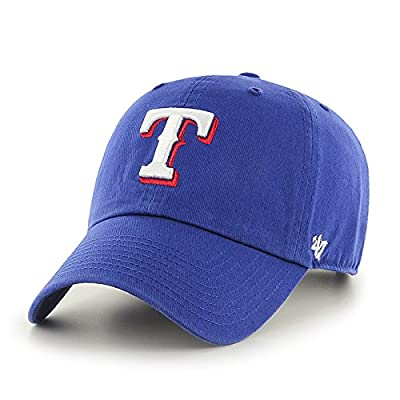 MLB Texas Rangers '47 Brand Royal Basic Logo Clean Up Home Adjustable Hat