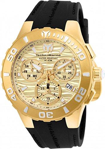 technomarine-mens-tm-115079-cruise-medusa-swiss-quartz-gold-with-black-strap