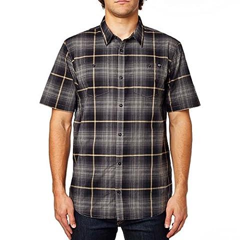Fox Racing Mens Resistance Woven Button Up Short-Sleeve Shirt X-Large Graphite (Fox Mx Shirts)