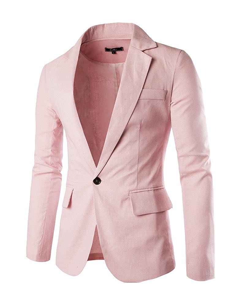 PengGeng Uomo Slim Fit Uomo Casual One Button Elegante Vestito di Affari  Cappotto Giacca Blazers Top Outwear  Amazon.it  Abbigliamento 8d7171d1022
