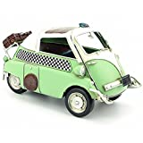 CYXStar Egg Car Model Handmade Iron Motorcycle Model Vintage Car Model For Home Decor (Green)