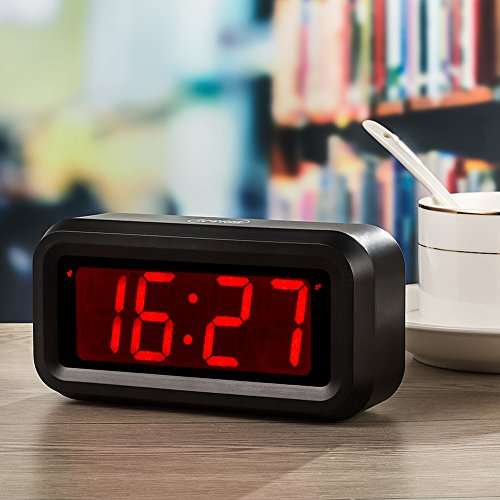 KWANWA LED Digital Alarm Clock Battery Operated Only Small