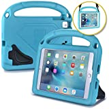 iPad Mini Carrying Case for Kids, Fits iPad Mini 4, iPad Mini 3 2 1 [Kid Proof Case w/ Shoulder Strap] BAM BINO HERO Shock Friendly iPad Mini Kids Case for Toddlers   Handle, Stand [Turqoise Blue]