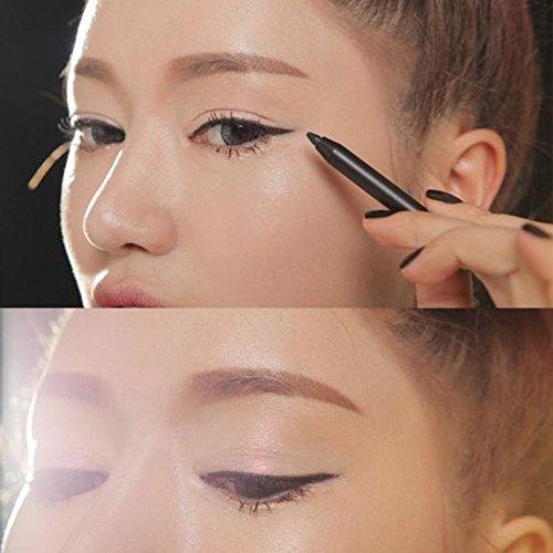 Luismia Gel Eyeliner Pen Black Waterproof Essence Eye Liner Pencil- Makeup Colloid Eyeliner Crayon All Day -Oil Free Eyeliner Marker