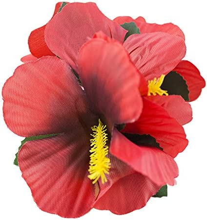 toys, games, party supplies,  party favors 1 on sale Hula Girl Hibiscus Color Assorted Flower Island Theme deals