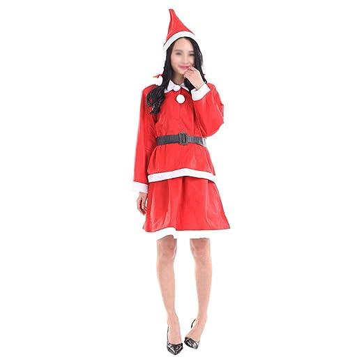 BESTOYARD Disfraz Santa Claus Traje con Gorro Cinturón Top ...