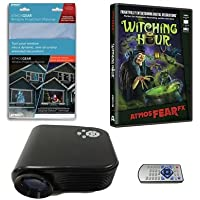 Virtual Reality Halloween Projector Value Kit with Phantasms AtmosFEARFx DVD and Screen