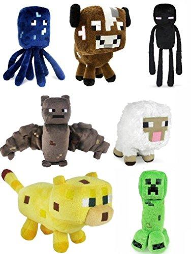 Minecraft Plush Toy Set of 7 - Creeper, Enderman, Squid, ...