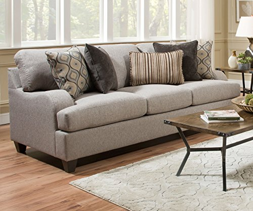 (Simmons Upholstery 4002BR-04Q Lennox Sterling Queen Sleeper Sofa )