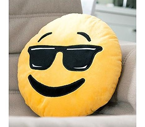 621042 Almohada de emoticono gafas de sol 30 cm de diametro ...