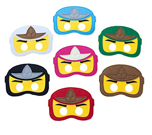 Summer Inspirations Ninjago Felt Mask Birthday Party Favor Pack of 15 gift bag