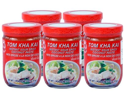 Cock - Tom Kha Kai Paste - 5er Pack (5 x 227g) - Original Thai
