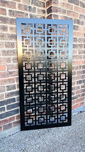 (Privacy Screen Metal Garden Fence Decor Art - Square1US)