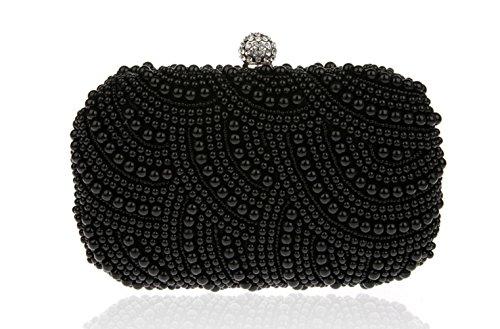 Cosmétique Perle Embrayage Parti Sac Nuptiale FZHLY Sac Perlé Sac Sac Dîner Black Exquis Femmes Mini ZZxq87HYz