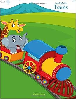 Livre De Coloriage Trains 1 Amazon Fr Snels Nick Livres