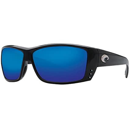 3fea32af11b Image Unavailable. Image not available for. Color  Costa Del Mar Cat Cay  Sunglasses - Black Frame - Blue Mirror 580Glass lens