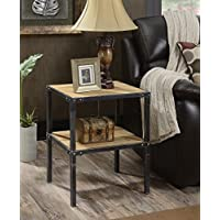 Convenience Concepts Laredo End Table, Natural & Black