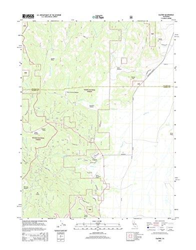 Topographic Map Poster   Calpine  Ca Tnm Geopdf 7 5X7 5 Grid 24000 Scale Tm 2012 30 X24
